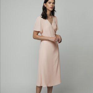NWT Oak+Fort wrap midi dress